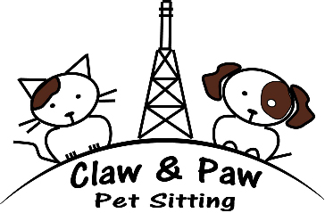 Claw and Paw Pet Sitting Logo